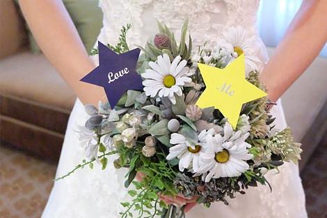 星」をテーマにした結婚式のアイデア
