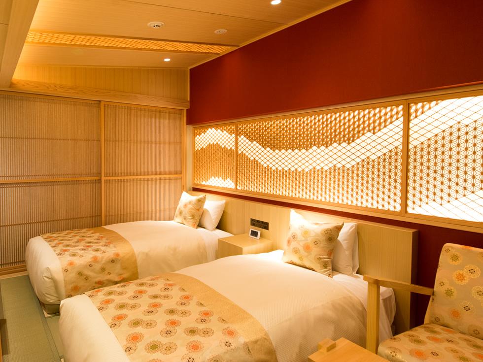 京都らしさを表現した数寄屋造りの意匠を取り入れたお部屋です。