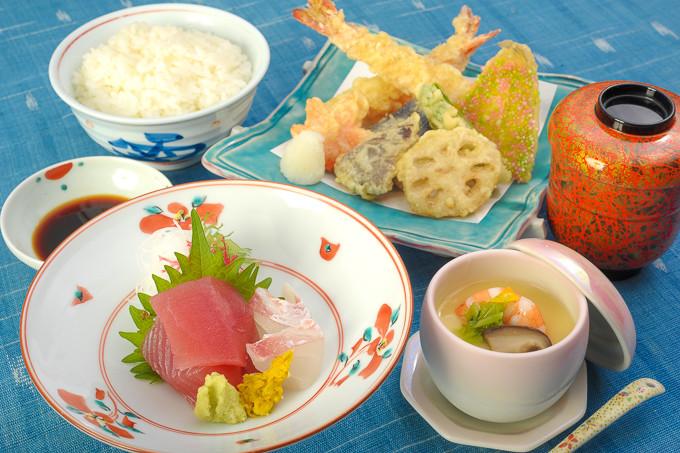 天ぷらお刺身セット
